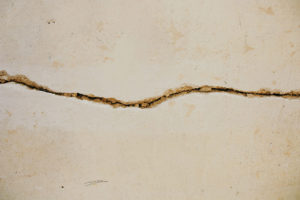 crack in the basement wall